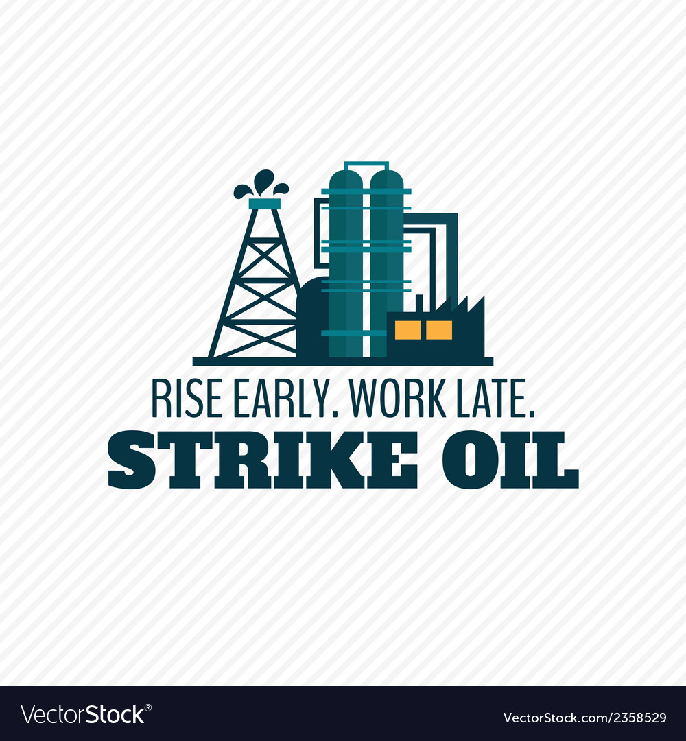 Oil industry poster vector | Price: 1 Credit (USD $1)