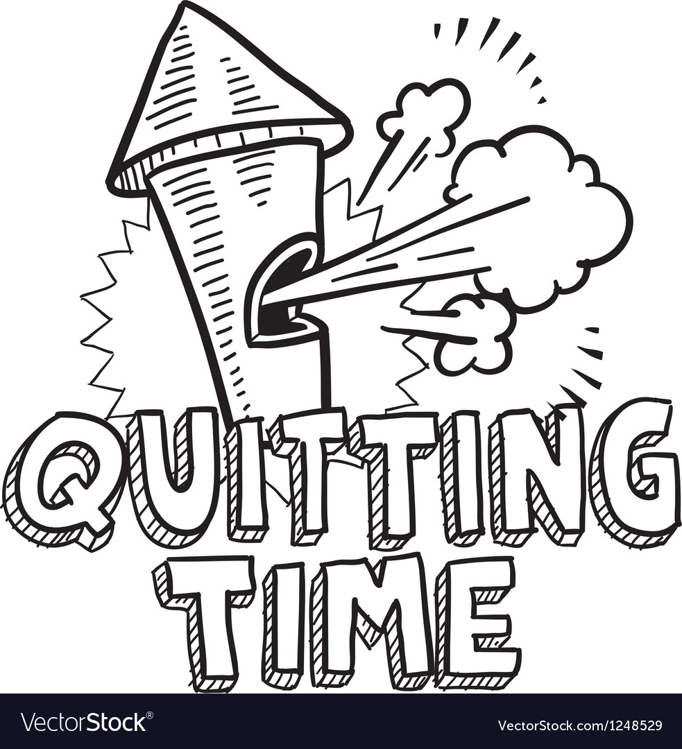 Quitting time vector | Price: 1 Credit (USD $1)