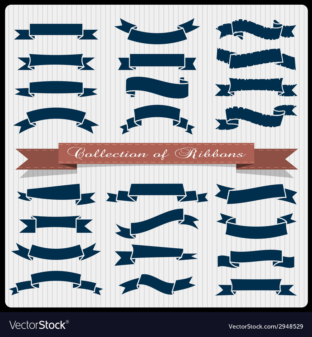 Retro styled ribbons banners vector | Price: 1 Credit (USD $1)