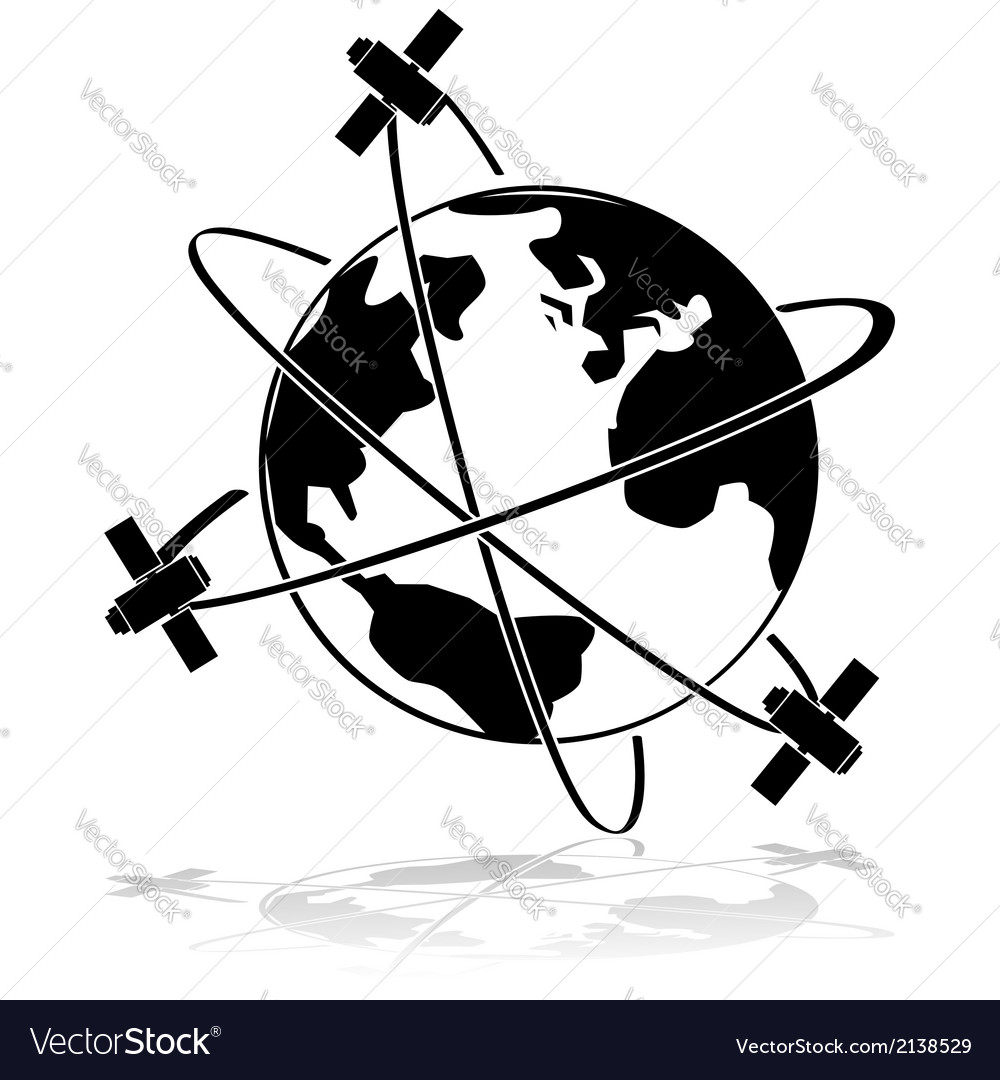 Satellites vector | Price: 1 Credit (USD $1)
