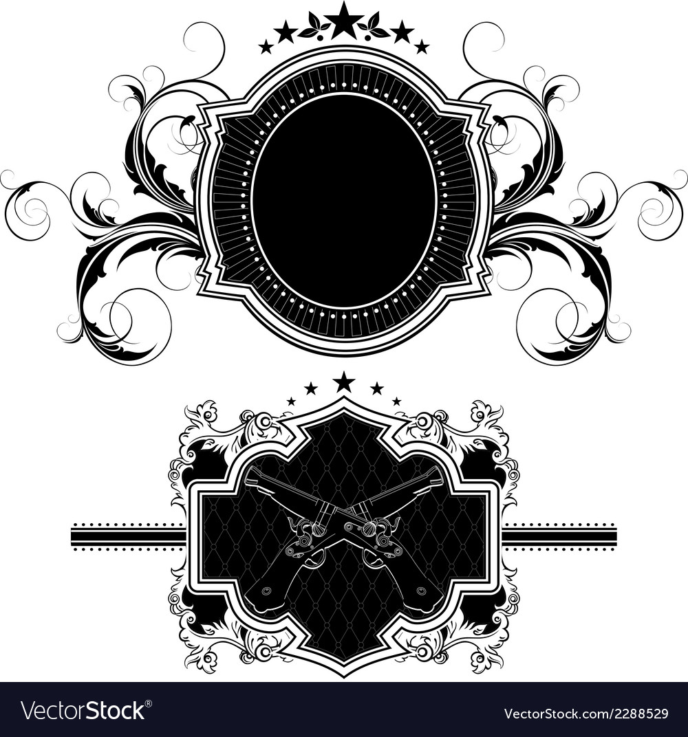 Set of ornamental elements vector | Price: 1 Credit (USD $1)