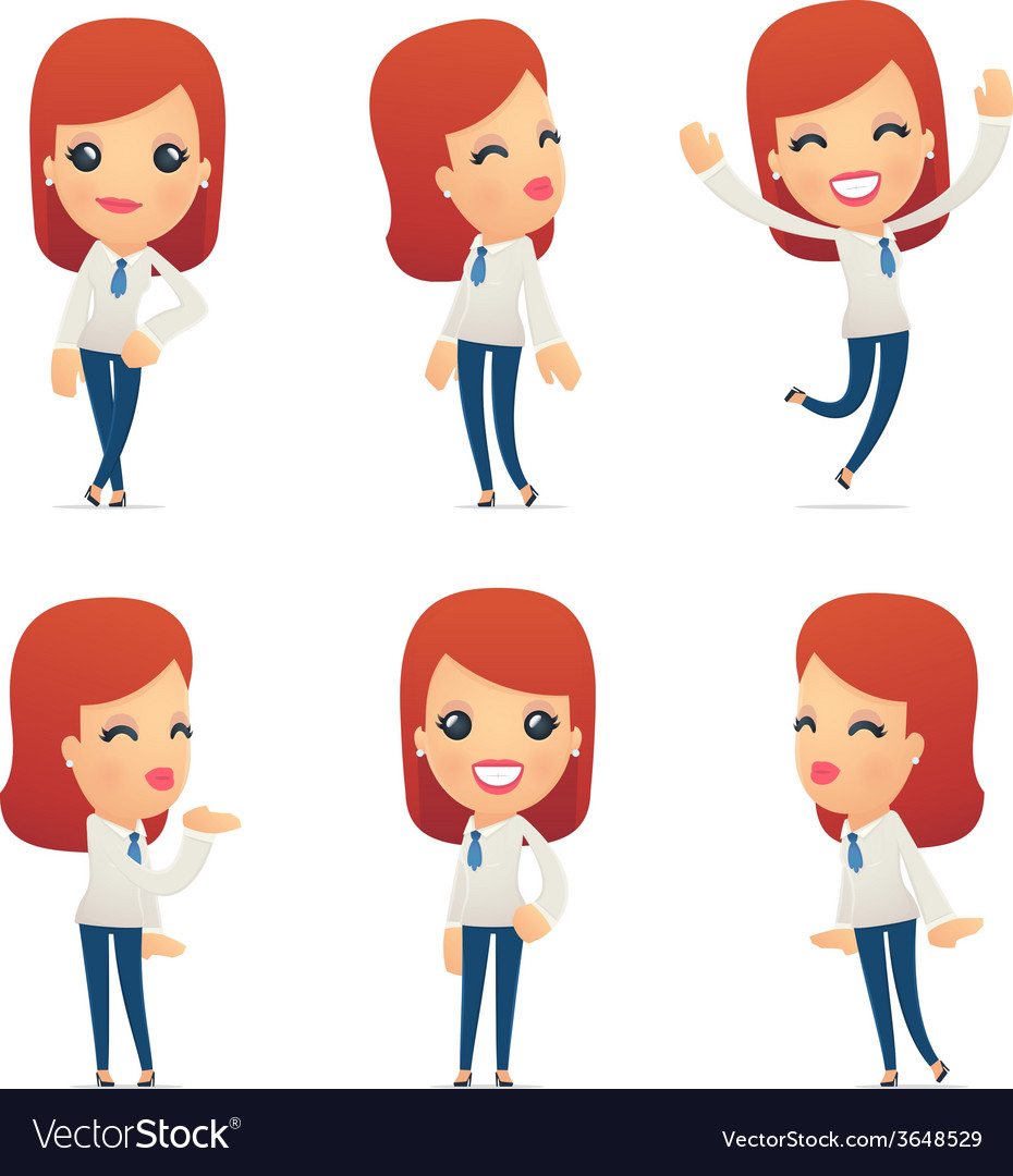 Set of reception character in different poses vector | Price: 1 Credit (USD $1)