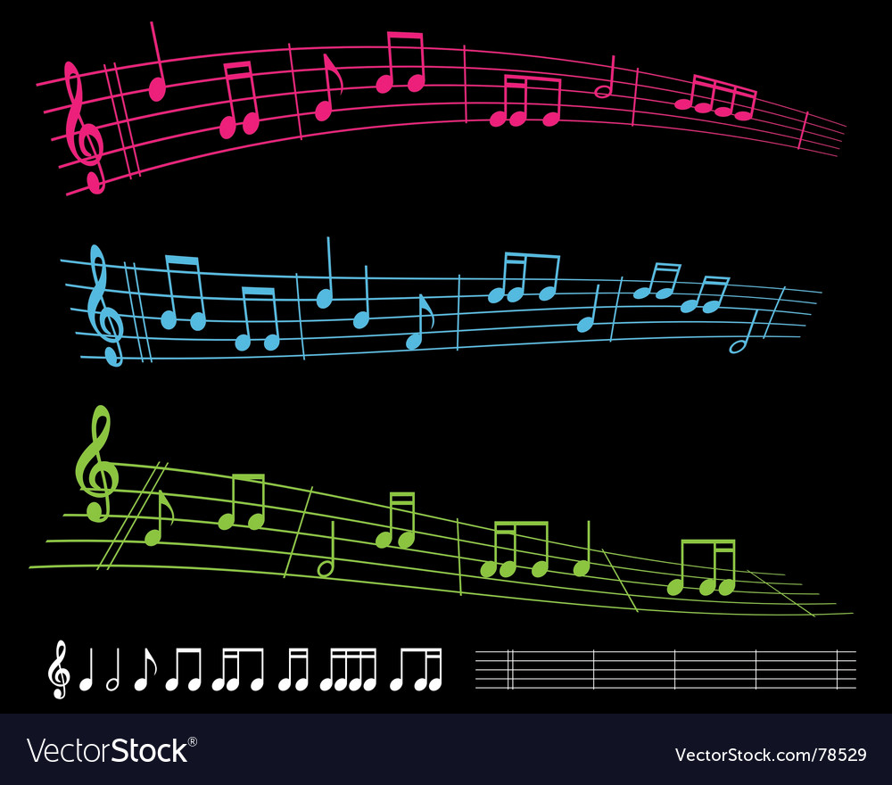 Sheet music vector | Price: 1 Credit (USD $1)