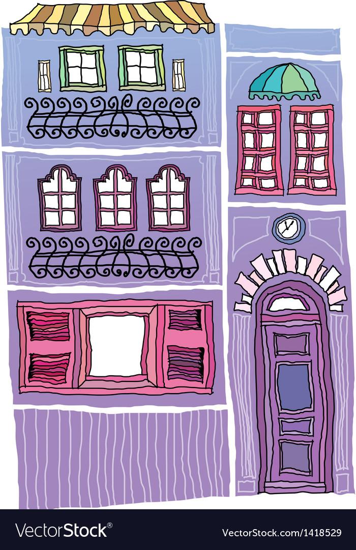Shop building drawing vector | Price: 1 Credit (USD $1)