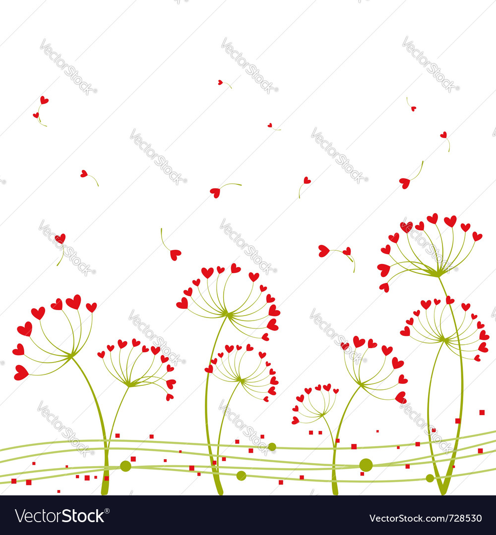Abstract springtime love vector | Price: 1 Credit (USD $1)