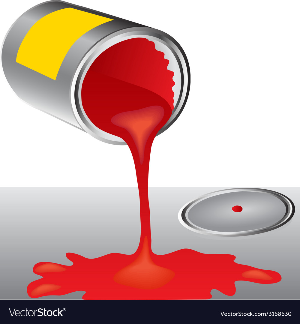 Cans of red paint vector | Price: 1 Credit (USD $1)