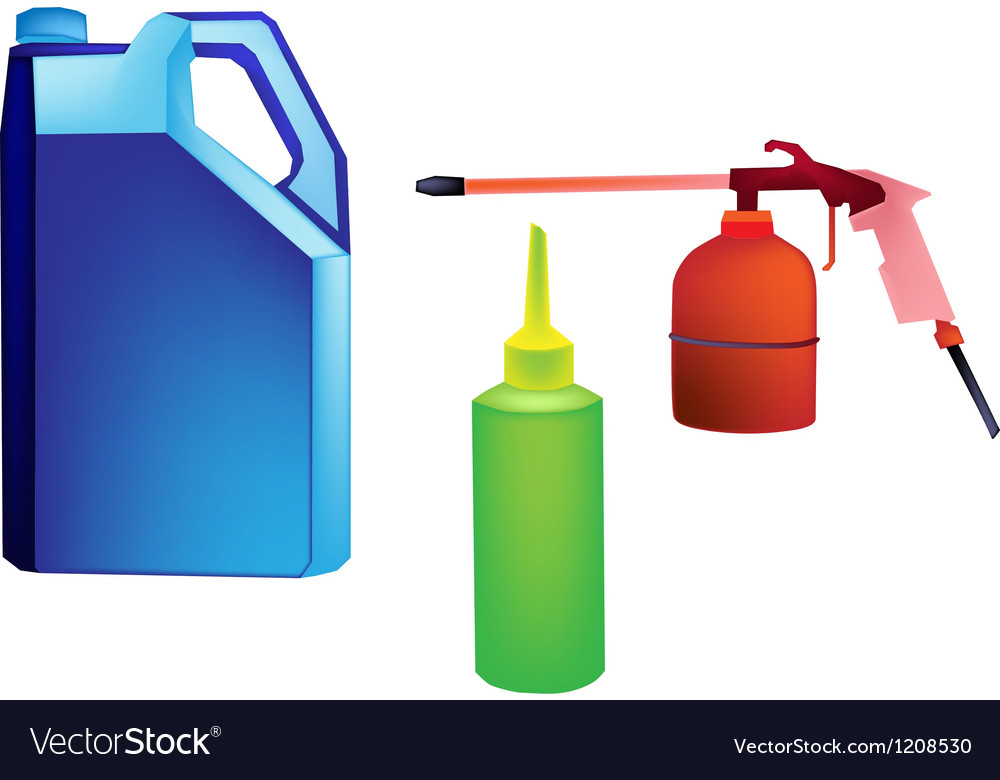Different types of engine oil packaging vector | Price: 1 Credit (USD $1)