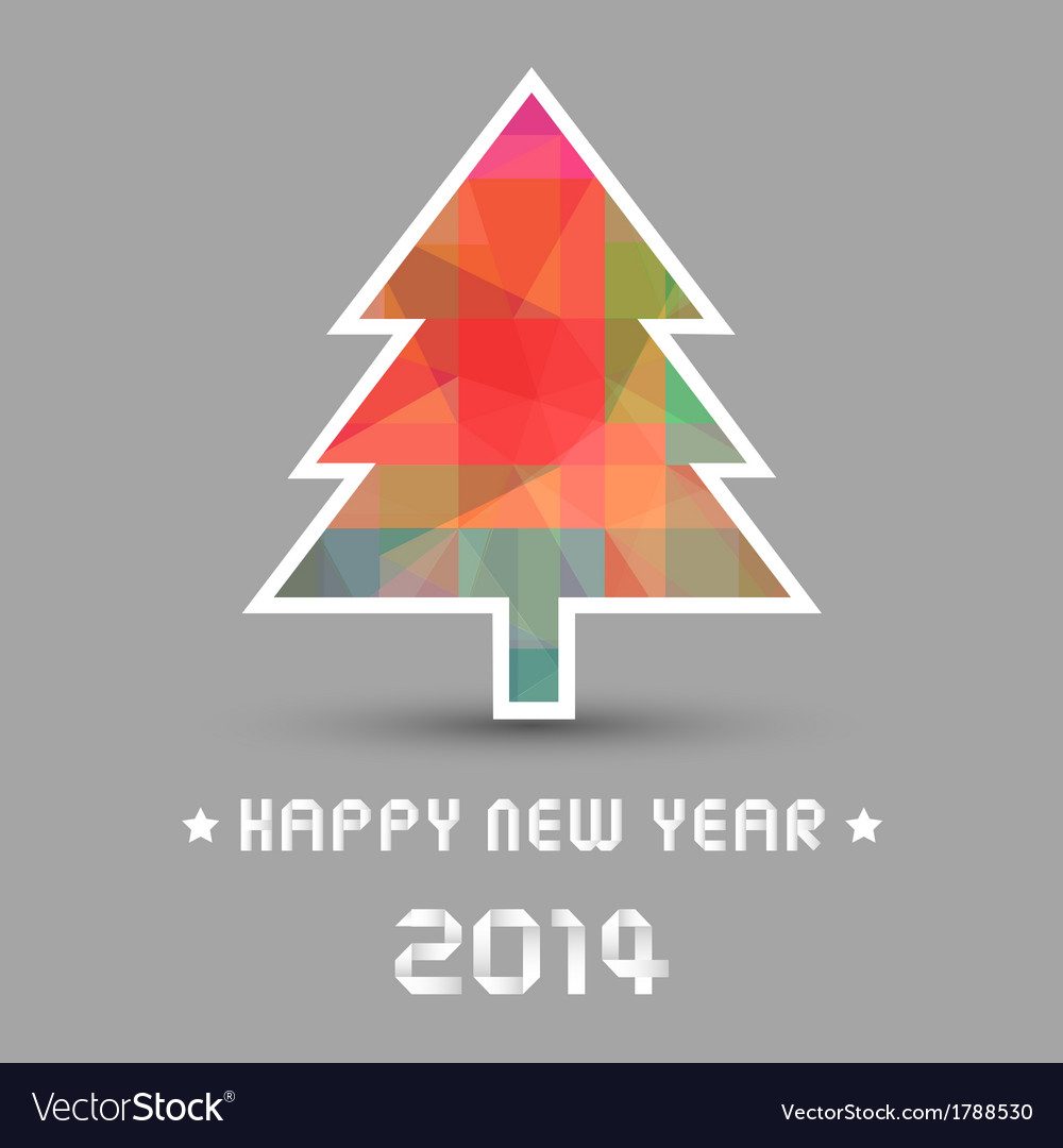 Happy new year 2014 card28 vector | Price: 1 Credit (USD $1)