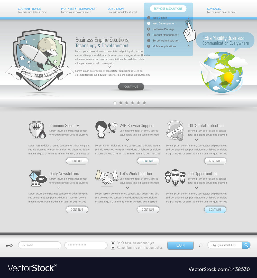Website template vector