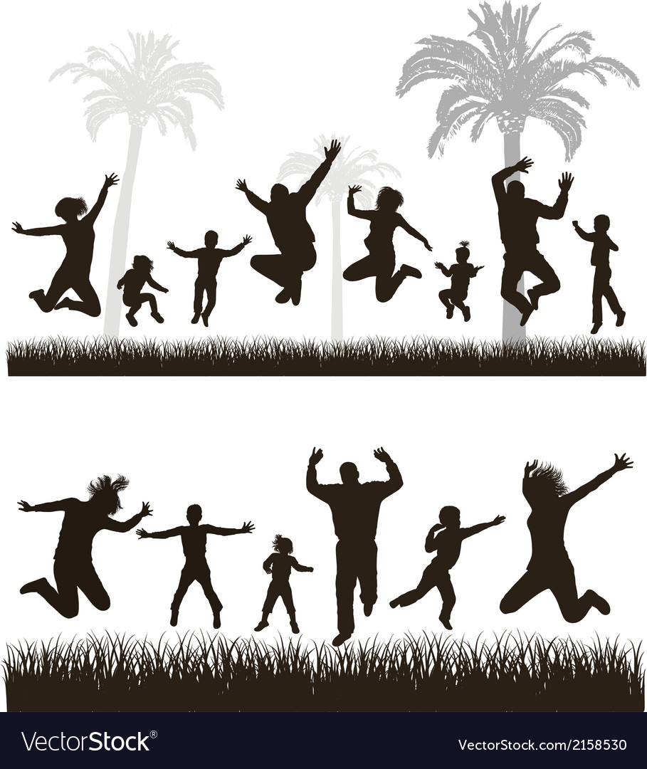 Young active family vector | Price: 1 Credit (USD $1)
