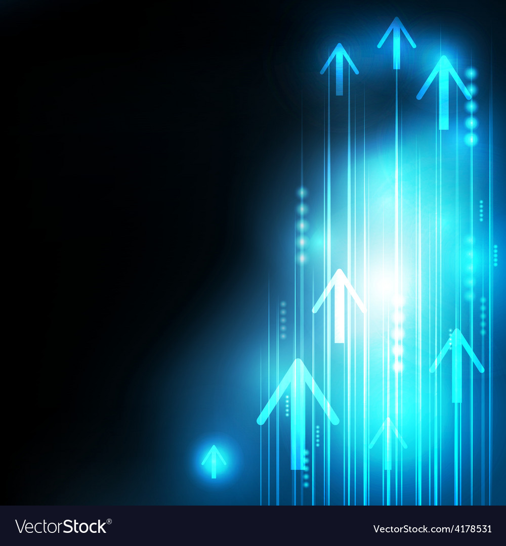 Abstract blue arrows technology communicate vector | Price: 1 Credit (USD $1)