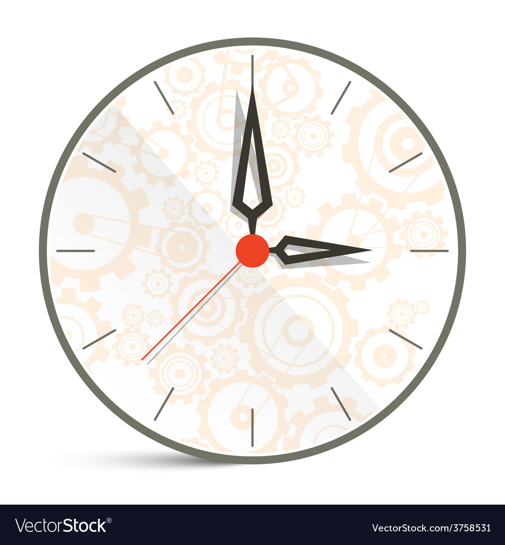 Abstract clock isolated on white background vector | Price: 1 Credit (USD $1)