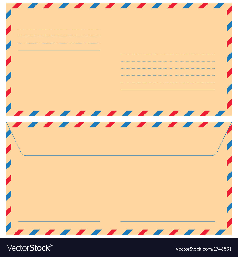 Airmail envelope vector | Price: 1 Credit (USD $1)