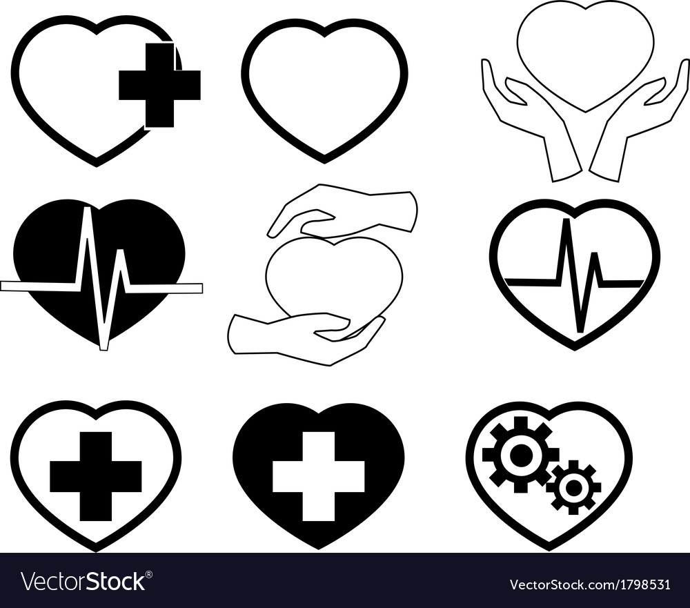 Cardio icons vector | Price: 1 Credit (USD $1)