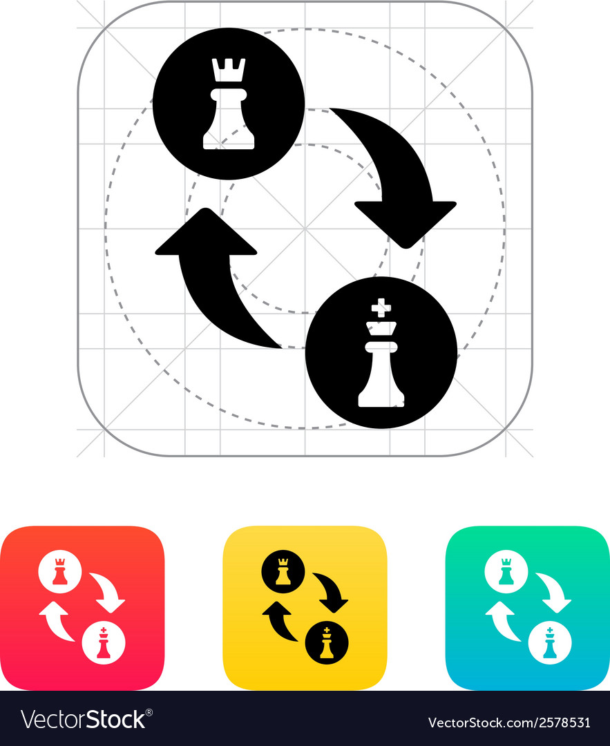 Chess castling icon vector | Price: 1 Credit (USD $1)