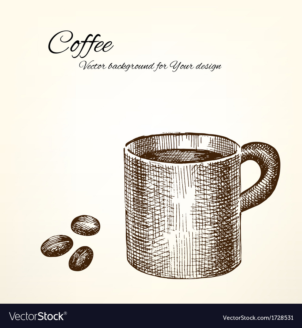 Coffee background for your design vector | Price: 1 Credit (USD $1)