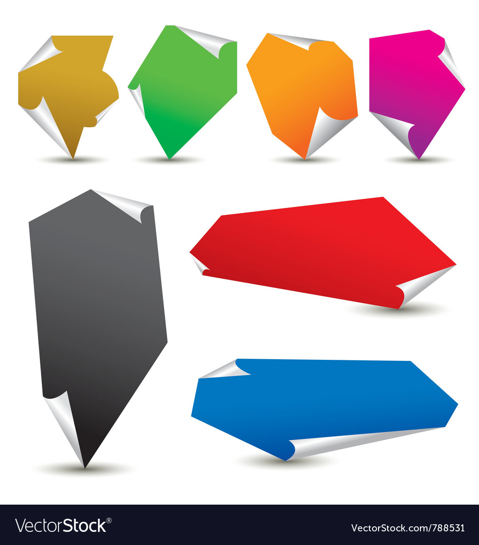 Color paper notes vector | Price: 1 Credit (USD $1)
