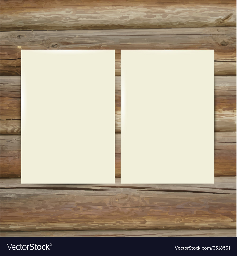Design template white paper on the wooden table vector | Price: 1 Credit (USD $1)