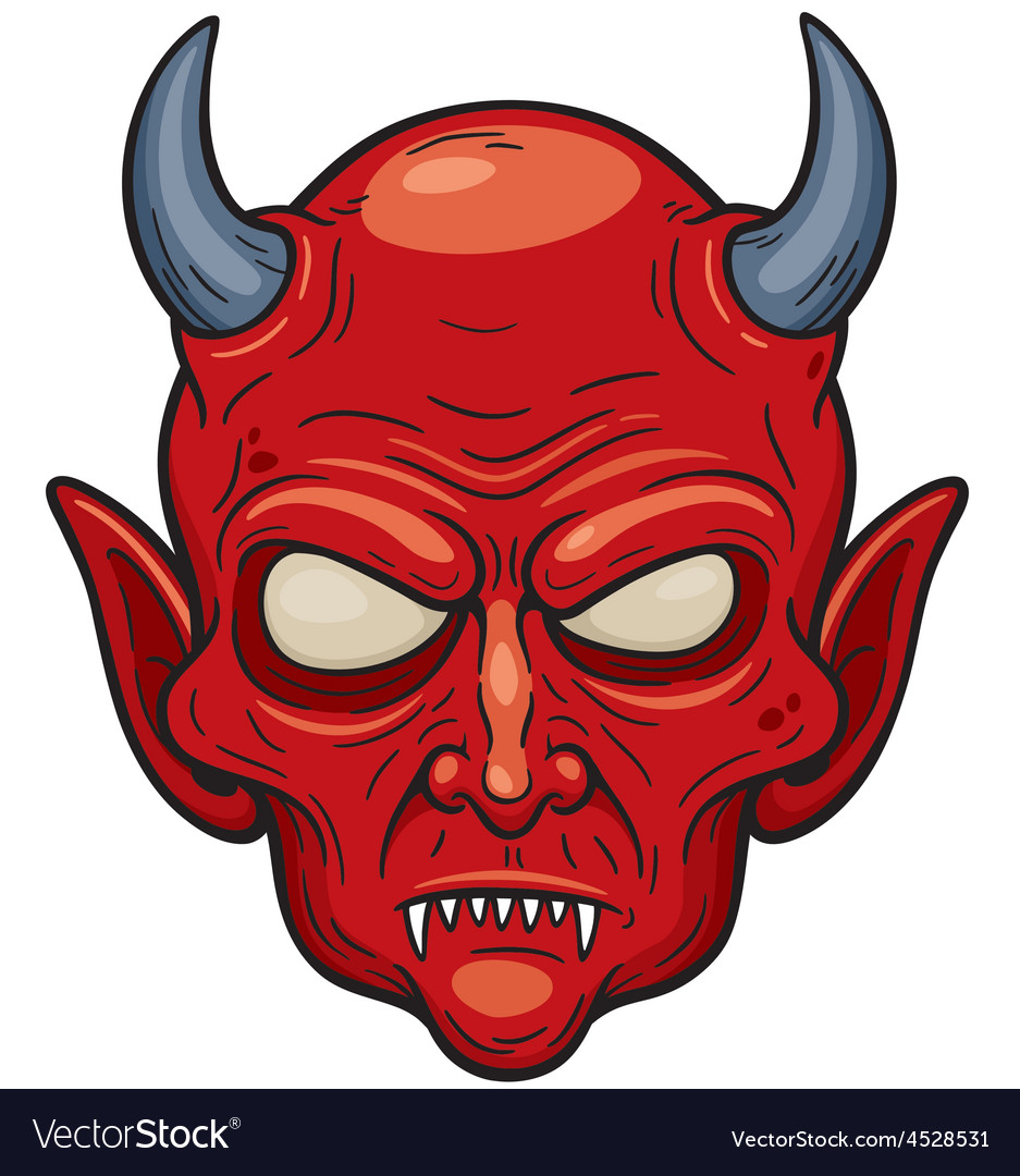 Devil face vector | Price: 3 Credit (USD $3)