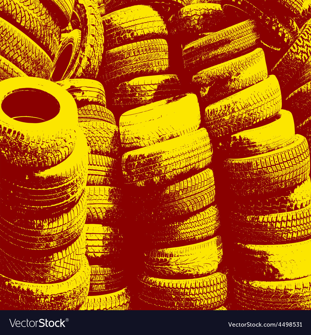 Grunge background with black tire track vector | Price: 1 Credit (USD $1)