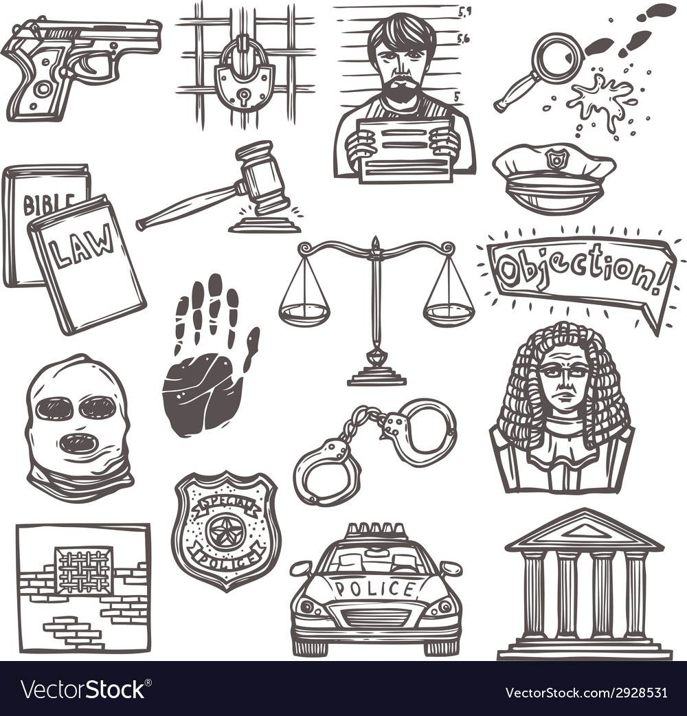 Law icon sketch vector | Price: 1 Credit (USD $1)