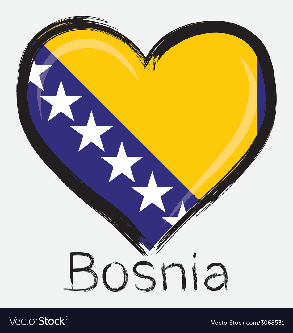 Love bosnia flag vector | Price: 1 Credit (USD $1)