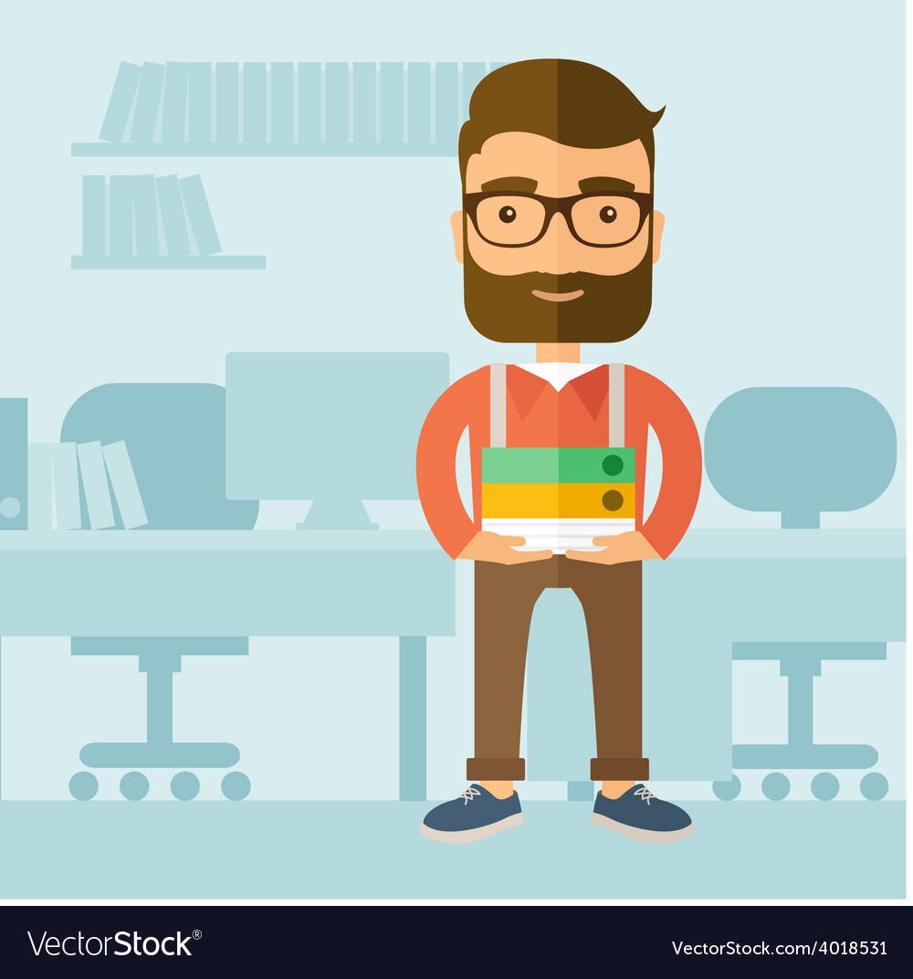 Office clerk vector | Price: 1 Credit (USD $1)