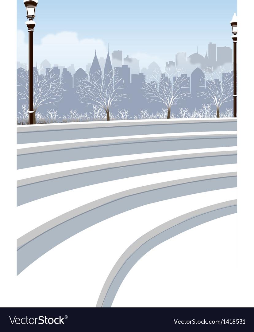 Park cityscape view vector   Price: 1 Credit (USD $1)
