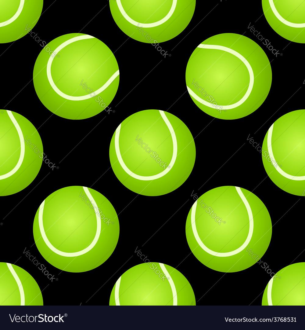 Seamless tennis ball pattern vector | Price: 1 Credit (USD $1)