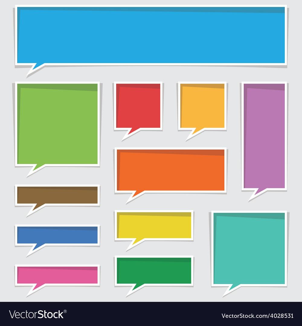 Text boxes vector