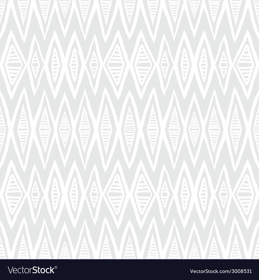 White geometric texture with hand drawn chevrons vector | Price: 1 Credit (USD $1)