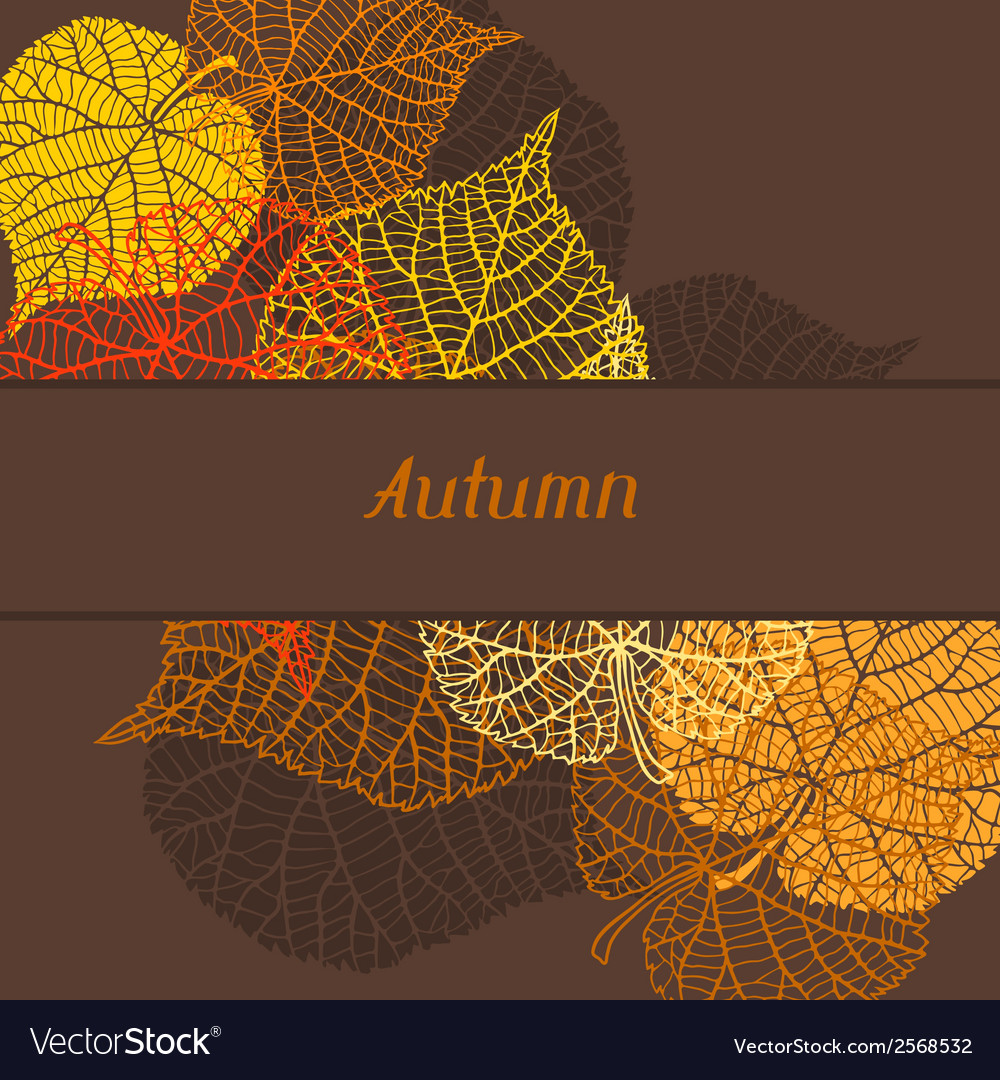 Background greeting card with stylized autumn vector | Price: 1 Credit (USD $1)