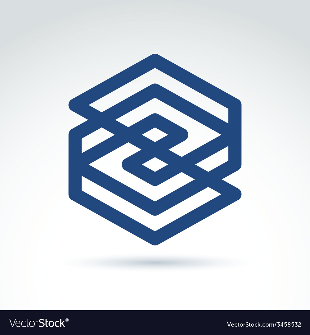 Complex geometric corporate element abstract vector | Price: 1 Credit (USD $1)