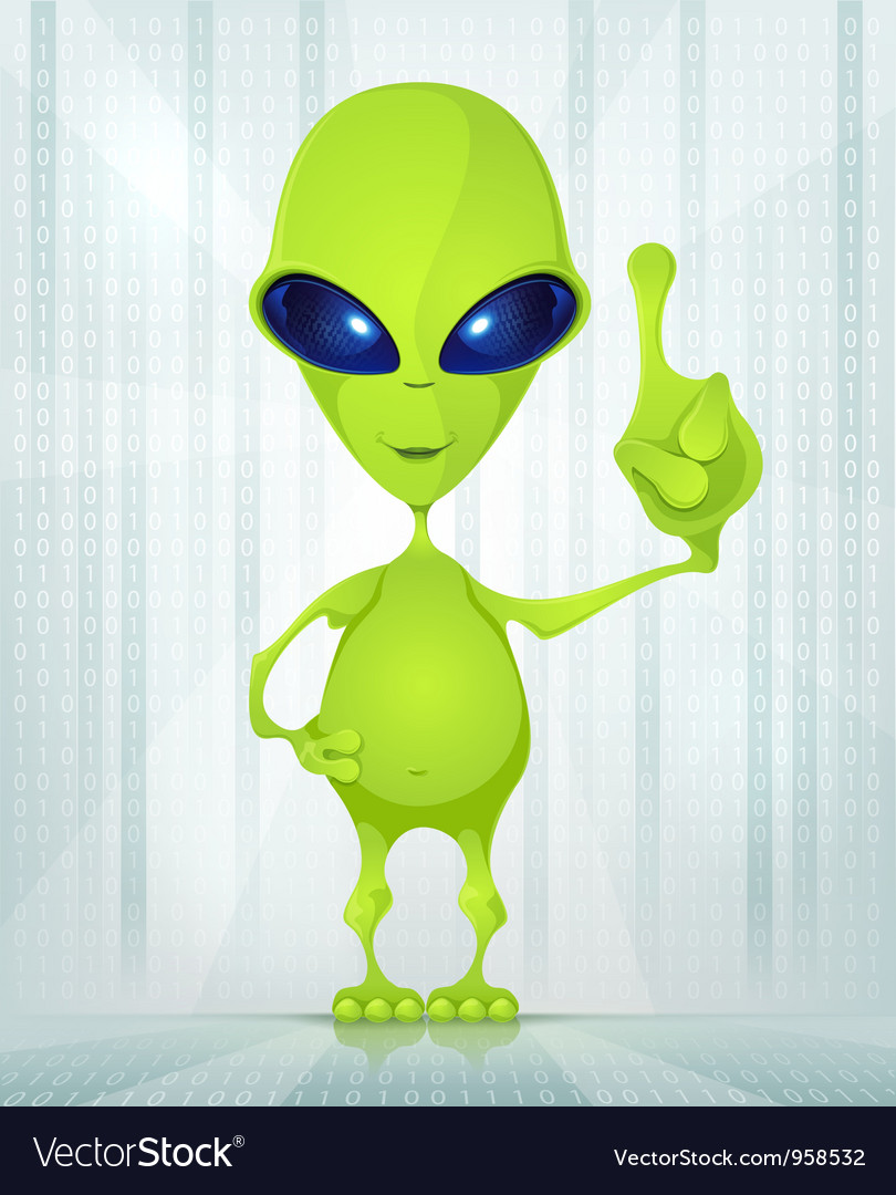 Cute alien vector | Price: 3 Credit (USD $3)