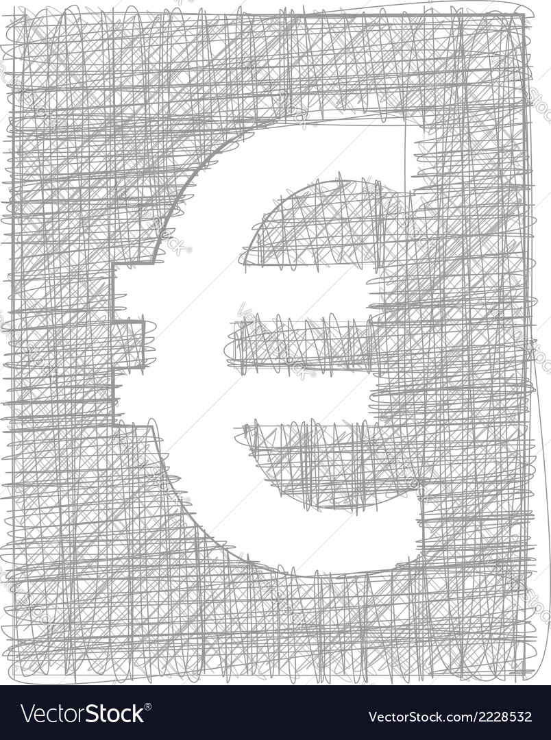 Euro sign - freehand symbol vector | Price: 1 Credit (USD $1)