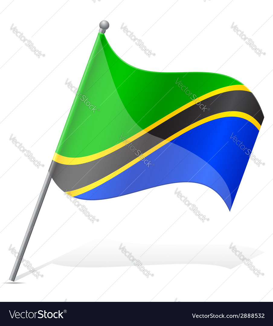 Flag of tanzania vector | Price: 1 Credit (USD $1)