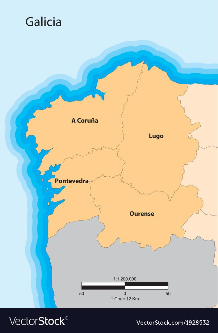 Galicia vector | Price: 1 Credit (USD $1)