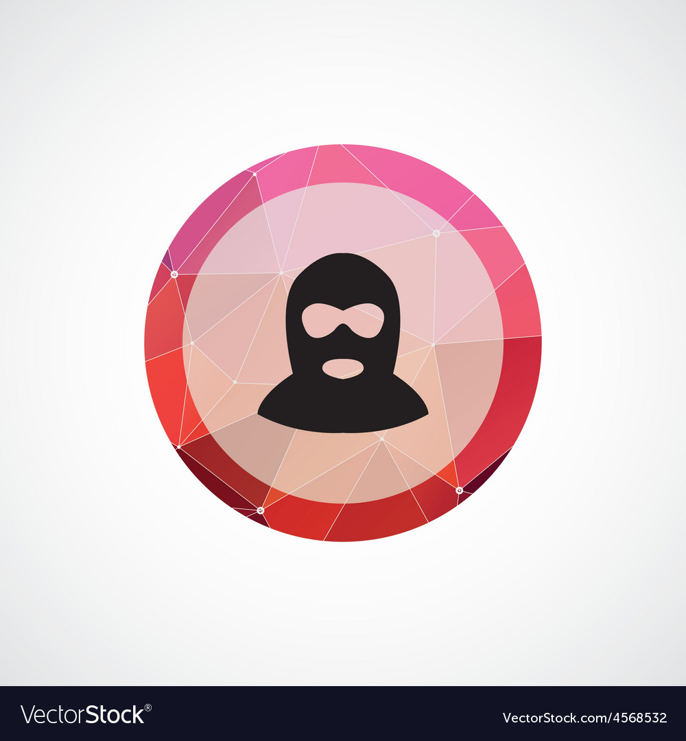 Offender circle pink triangle background icon vector | Price: 1 Credit (USD $1)