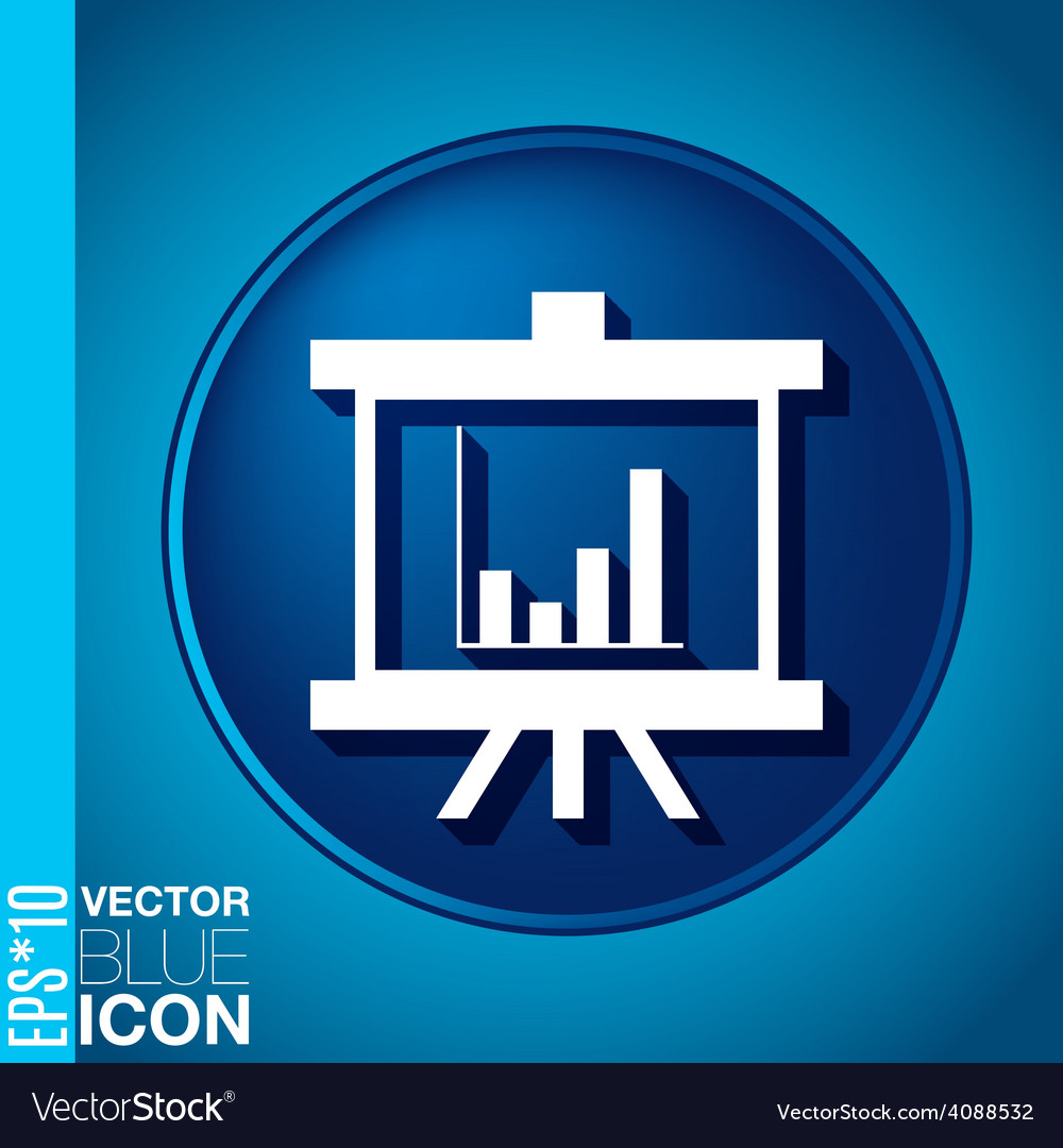 Presentation graphics business icon vector   Price: 1 Credit (USD $1)