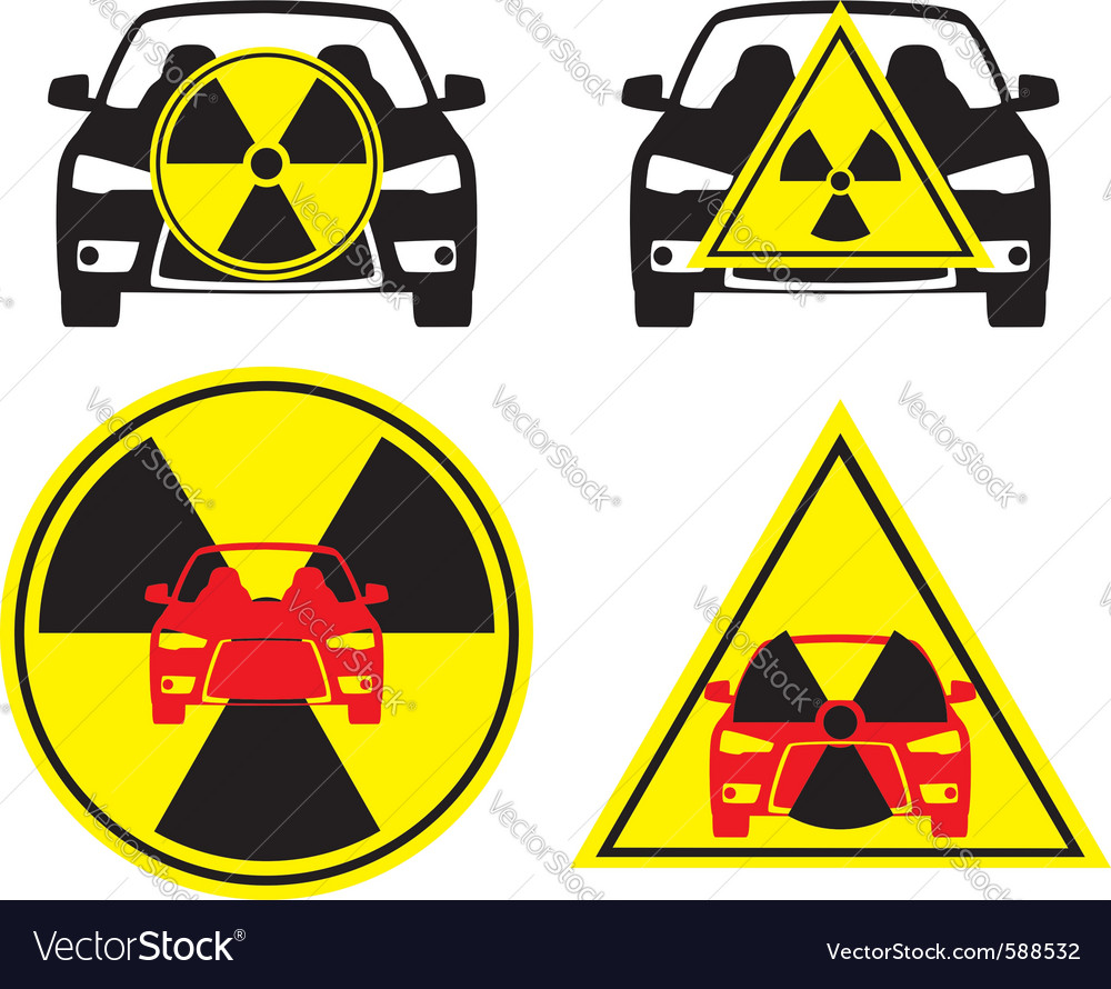 Radioactive car vector | Price: 1 Credit (USD $1)