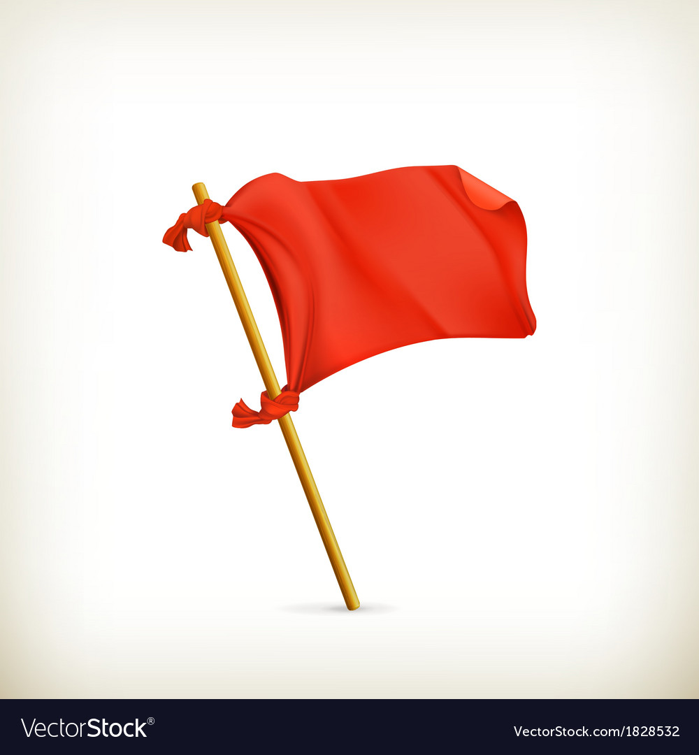Red flag icon vector | Price: 1 Credit (USD $1)