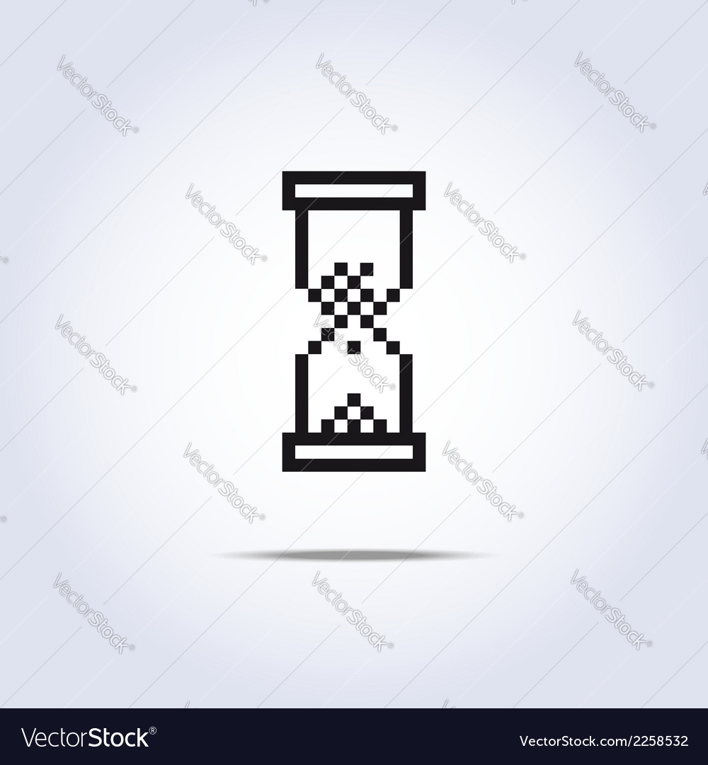 Sand clock icon vector | Price: 1 Credit (USD $1)