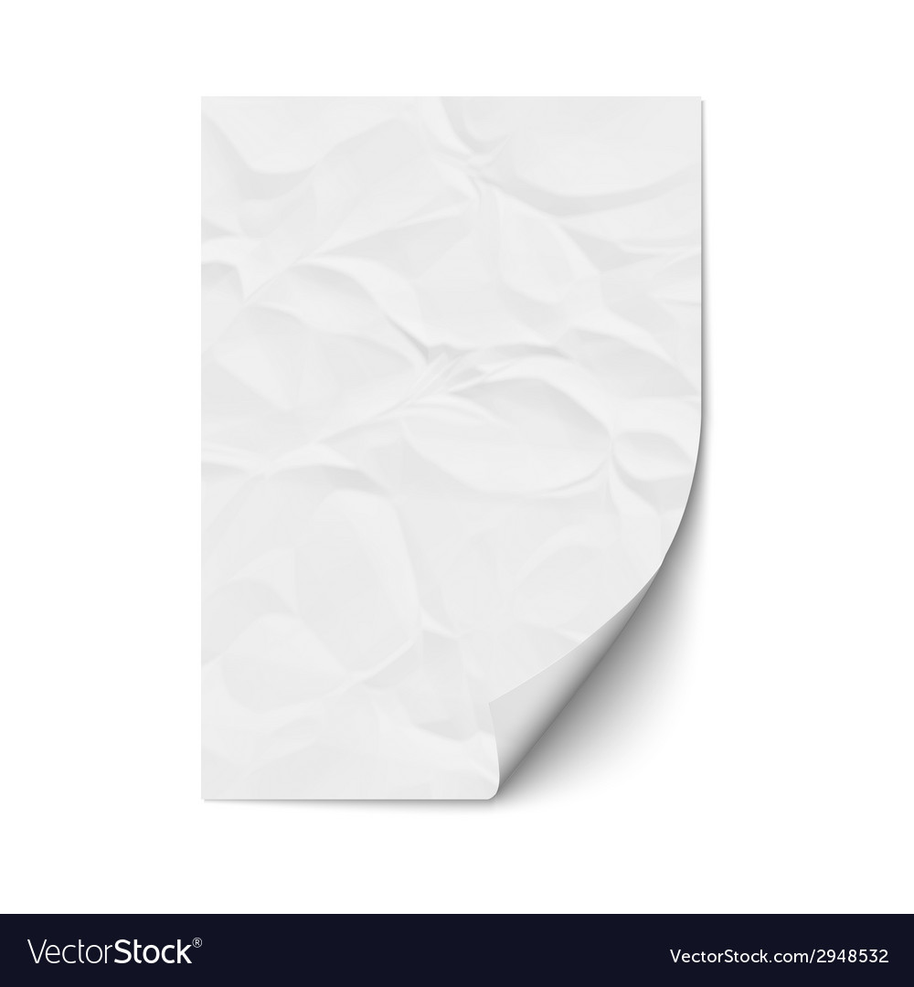 Sheet crumpled paper vector | Price: 1 Credit (USD $1)