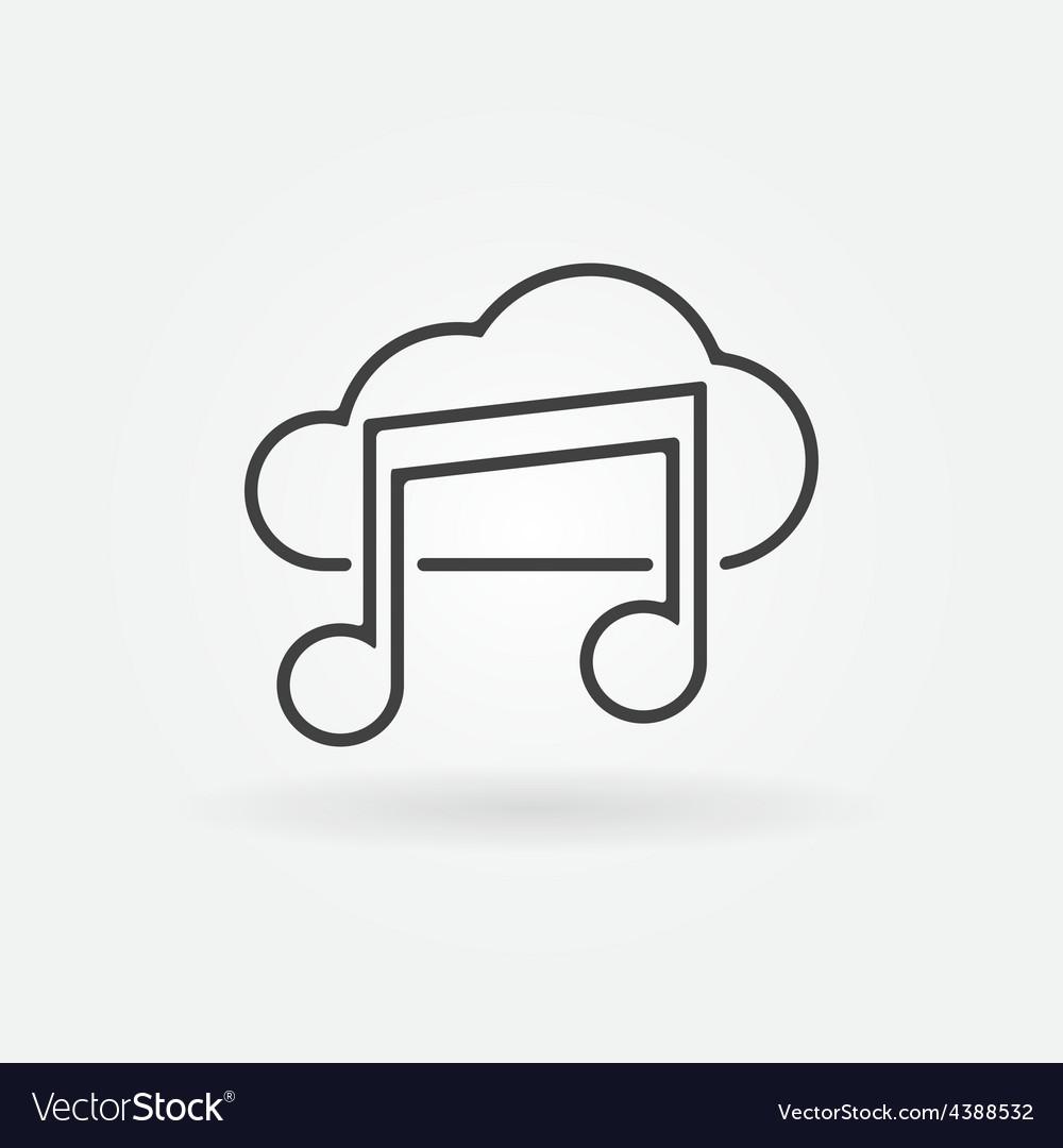 Sound cloud icon or logo vector | Price: 1 Credit (USD $1)