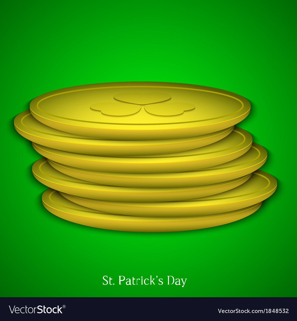 St patricks day background eps 10 vector | Price: 1 Credit (USD $1)