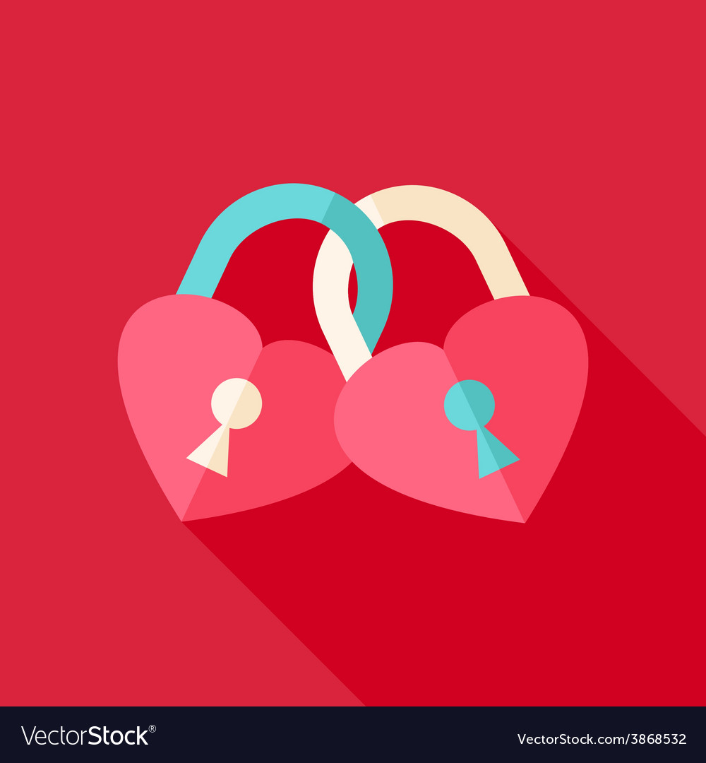 Two padlocks heart shaped vector | Price: 1 Credit (USD $1)