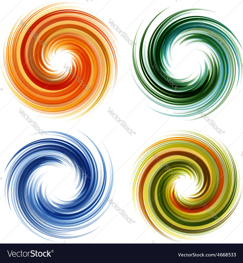 Colorful abstract icon set dynamic flow vector | Price: 1 Credit (USD $1)