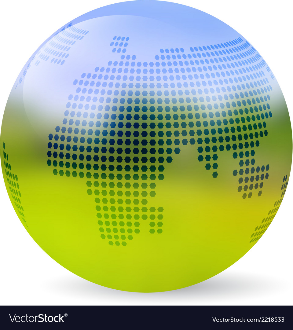 Globe blurred landscape vector | Price: 1 Credit (USD $1)