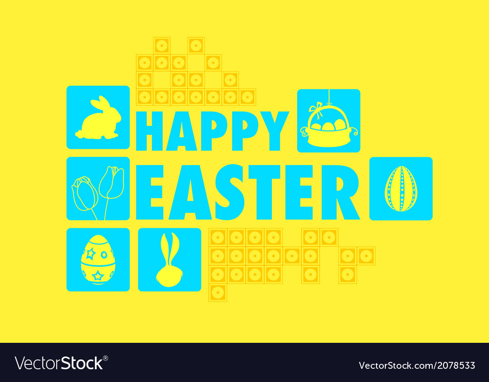 Happy easter collage background vector | Price: 1 Credit (USD $1)