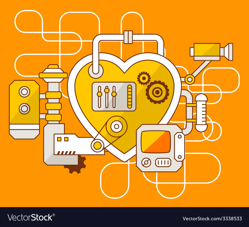 Industrial of the mechanism of heart vector | Price: 3 Credit (USD $3)